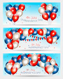 Three Independence Day banners. Stock Photography