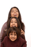Three indian girls Stock Image