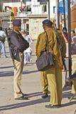 Three Indian policemen Royalty Free Stock Image