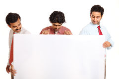 Three Indian young business people Royalty Free Stock Images