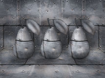Three Industrial Pears Stock Image