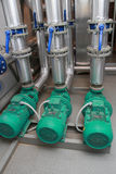 Three industrial pumps Stock Image