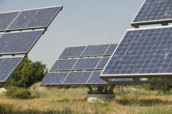 Three industrial solar panel Stock Images