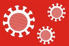 Three influenza virus particle Royalty Free Stock Image