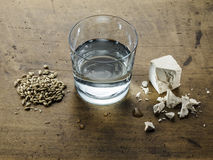 Three ingredients of Scottish whiskey: water, yeast and malted b Stock Images