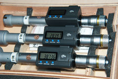 Three Inside micrometer Stock Photos