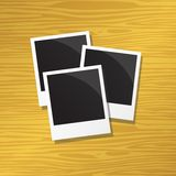 Three instant photos Royalty Free Stock Photos