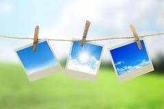Three instant photos Stock Photography
