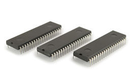 Three integrated circuits Royalty Free Stock Image