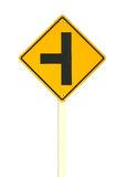 Three intersection traffic sign Stock Photography