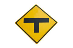Three intersection traffic sign Royalty Free Stock Photography