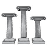 Three ionic marble columns  Royalty Free Stock Photography