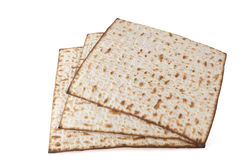 Three Isolated Matzot Stock Image