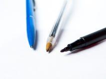 Three isolated pens Stock Photo