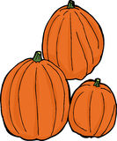 Three Isolated Pumpkins Stock Photo