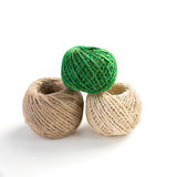 Three isolated skeins of thread. For handcraft Royalty Free Stock Images
