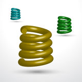 Three isolated springs. On white background. Vector illustration Royalty Free Stock Photography