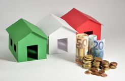 Three italian houses Royalty Free Stock Image