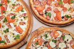 Three Italian pizza Stock Photo