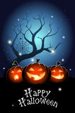 Three Jack O`Lanterns Stock Photos