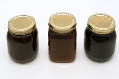 Three jam jars Royalty Free Stock Image
