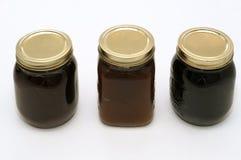 Three jam jars Royalty Free Stock Image
