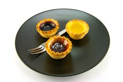 Three Jam Tarts Royalty Free Stock Images