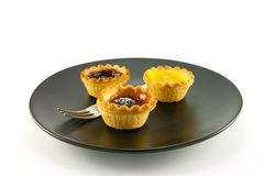 Three Jam Tarts Royalty Free Stock Image