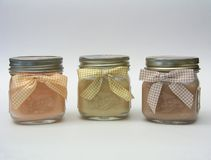 Three Jar Candles Royalty Free Stock Image