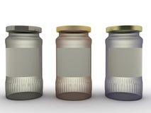 Three jars of different glasses №1 Stock Photo