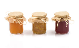 Three jars of jam Stock Photo
