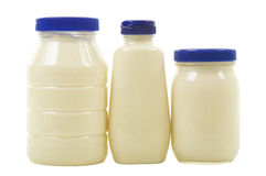 Three Jars with Mayonnaise Royalty Free Stock Photography