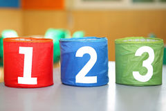 three JARS with one two and three numbers Royalty Free Stock Photography