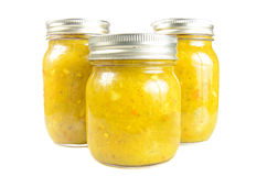 Three Jars of Relish Stock Photography