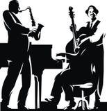 Three jazzmans vector illustration