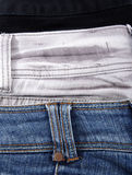 Three jeans close-up Royalty Free Stock Photography