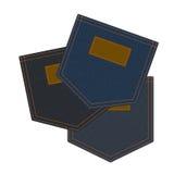 Three jeans pockets Royalty Free Stock Image
