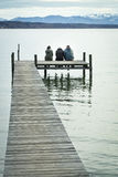 Three at the jetty Stock Images