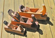 Three joiner planer Royalty Free Stock Photo