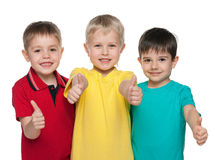 Three joyful little boys Royalty Free Stock Photography
