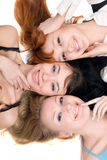 Three joyful women Stock Images