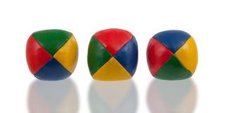 Three juggle balls  Royalty Free Stock Photos