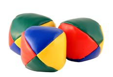 Three juggling balls Stock Image