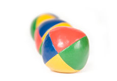 Three juggling balls Stock Images