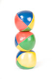 Three juggling balls Stock Photography