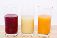 Three juices Royalty Free Stock Image