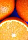 Three juicy fresh orange Royalty Free Stock Images