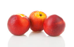 Three juicy nectarines Royalty Free Stock Image