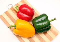 Three juicy peppers Royalty Free Stock Photo