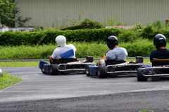 Three kartings Royalty Free Stock Images
